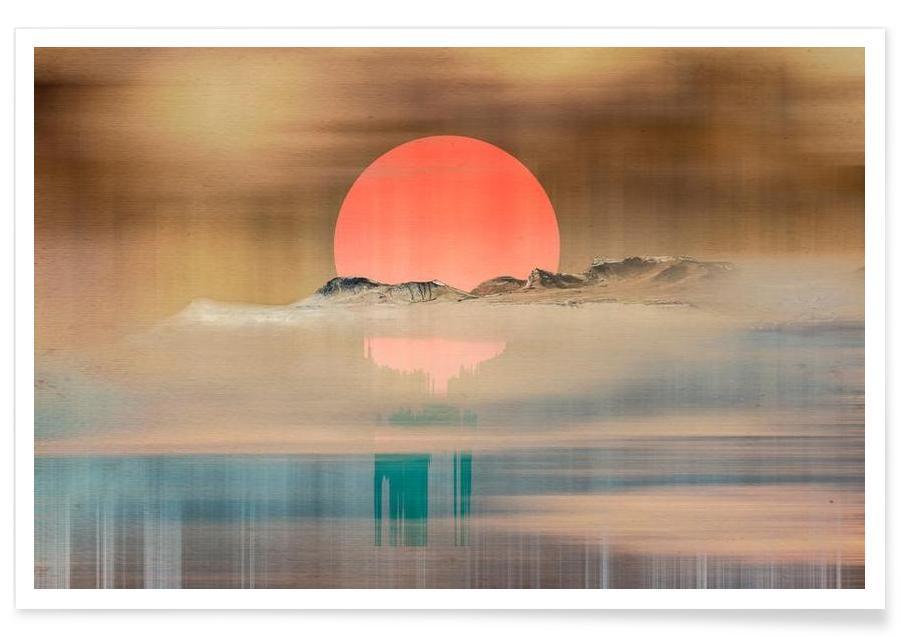 When the sun touches the horizon Poster