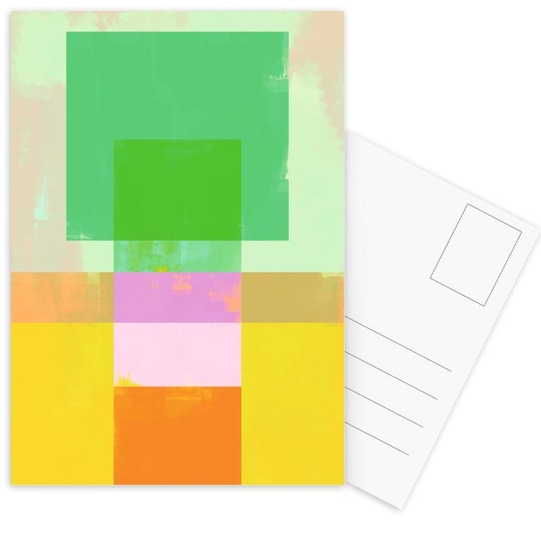 Abtract Geometry No.9 Postkartenset | Dekoration > Accessoires