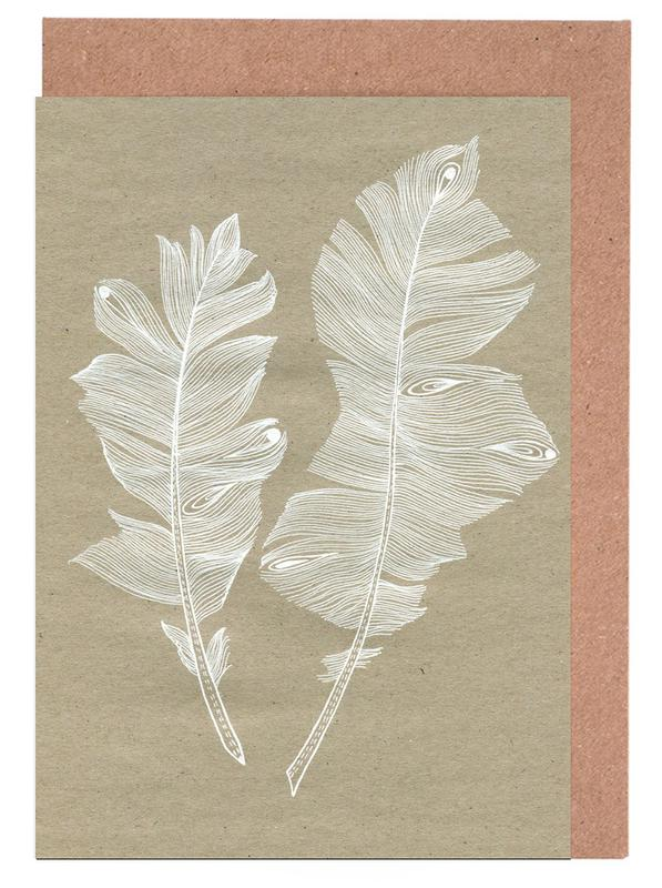 Feathers Greeting Card Set