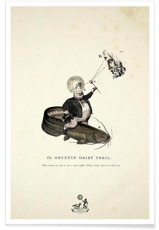 The one-eyed hairy snail Poster