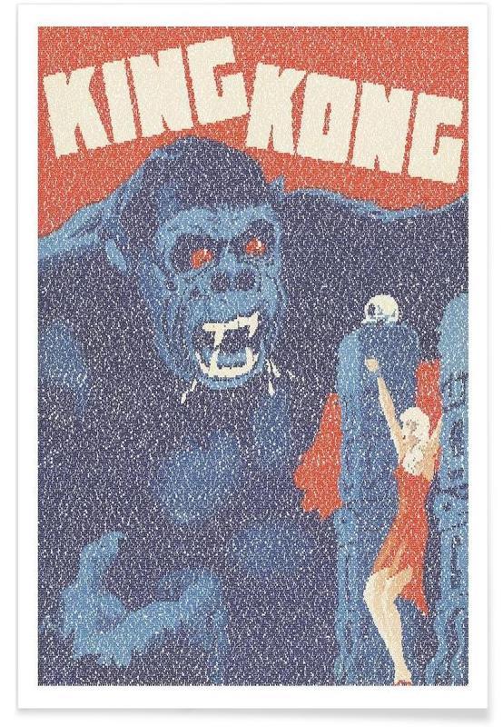 King Kong Pointillism Poster