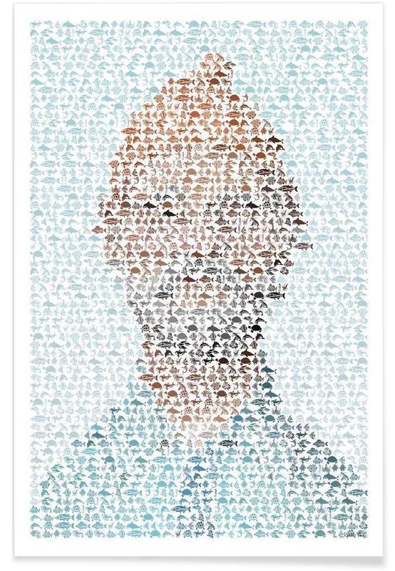 The Aquatic Steve Zissou Pointillism Poster