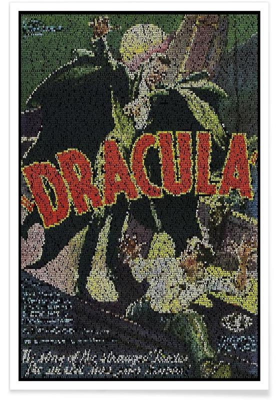 Dracula Pointillism Poster