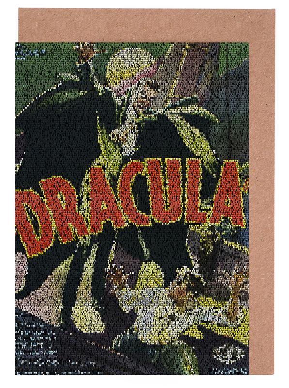 Dracula Grußkartenset | Dekoration > Accessoires | Mehrfarbig