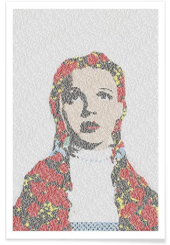 The Wizard of Oz Pointillism Poster