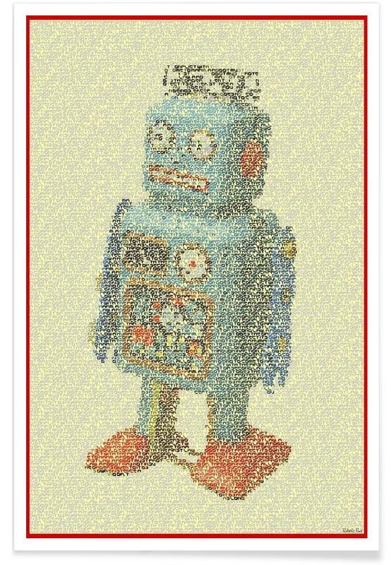 Laws Of Robotics Pointillism Poster