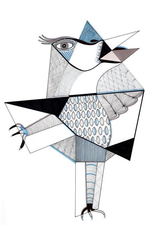bird Acrylglasbild