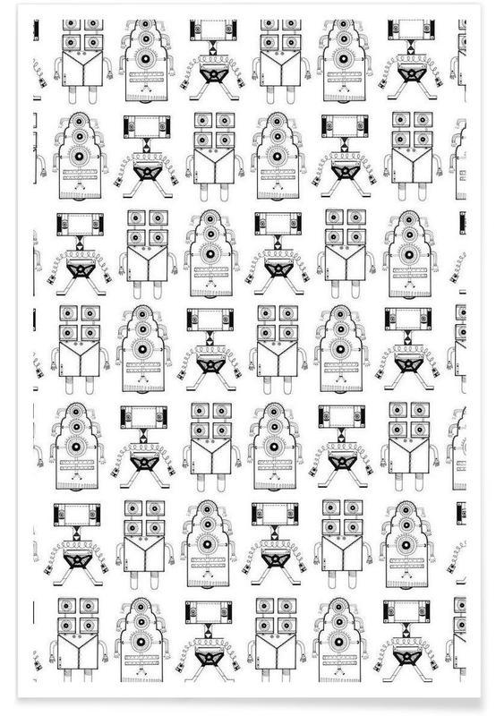 Robots (patroonrobotskopie) Poster
