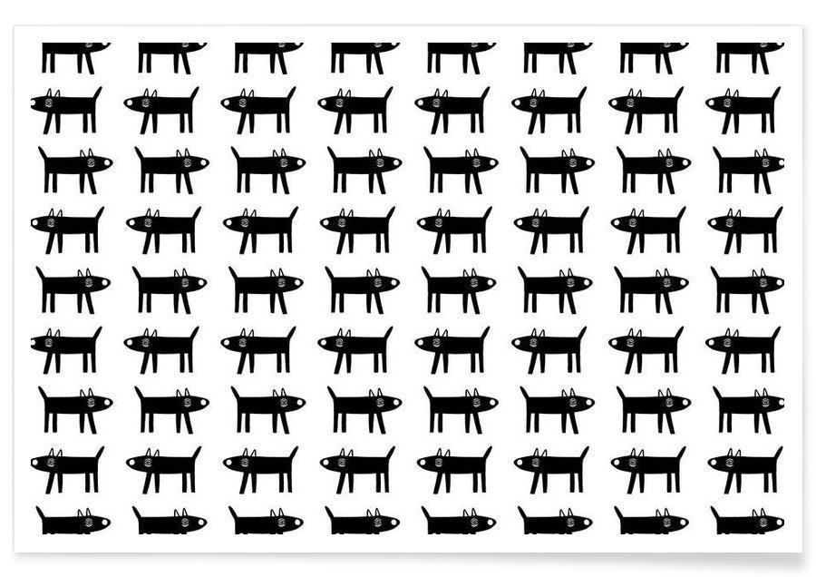 dog pattern 1 -Poster