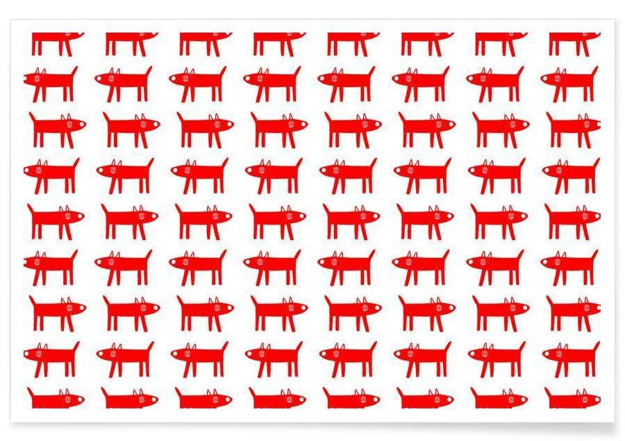 dog pattern 2 Poster
