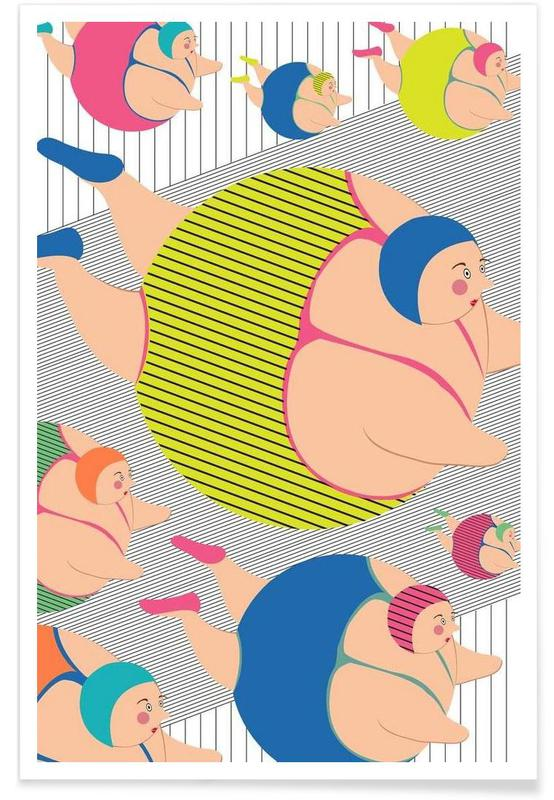 Synchronised Striped Swimmers Poster