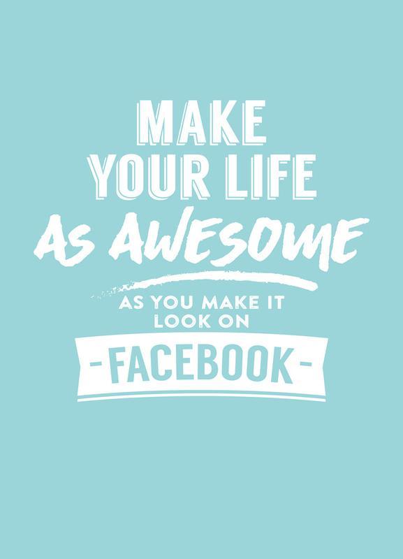 Facebook Life Leinwandbild