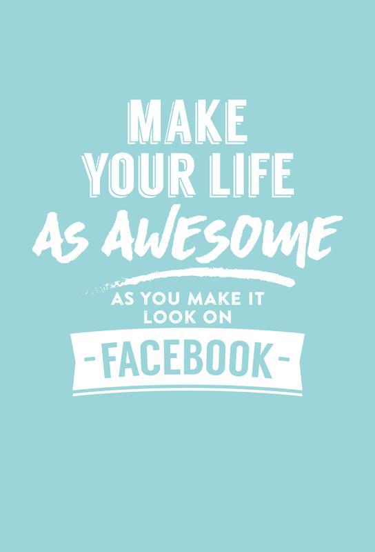 Facebook Life Alu Dibond Druck