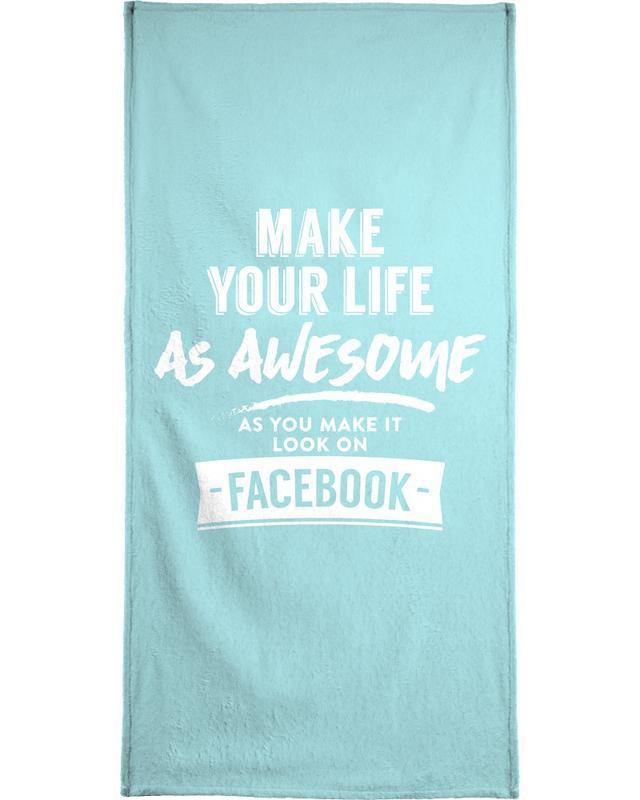Facebook Life Handtuch