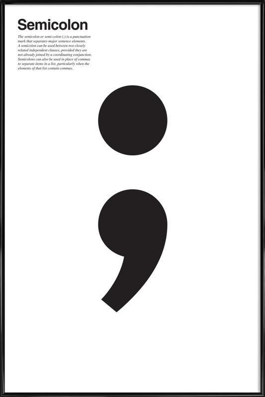 Semicolon Ingelijste poster