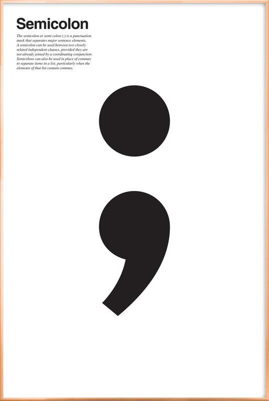 Semicolon Poster in aluminium lijst