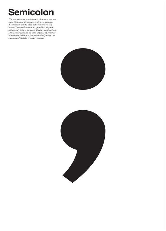 Semicolon Canvas Print