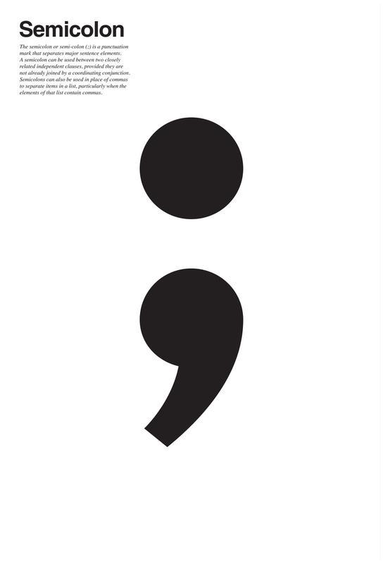 Semicolon Alu Dibond Print
