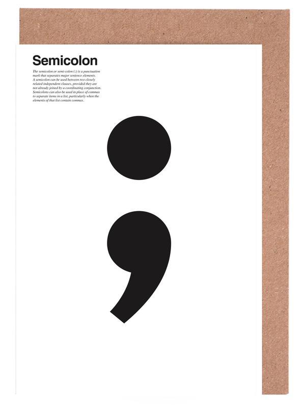 Semicolon Wenskaartenset
