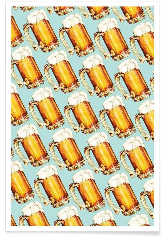 Beer Pattern Poster