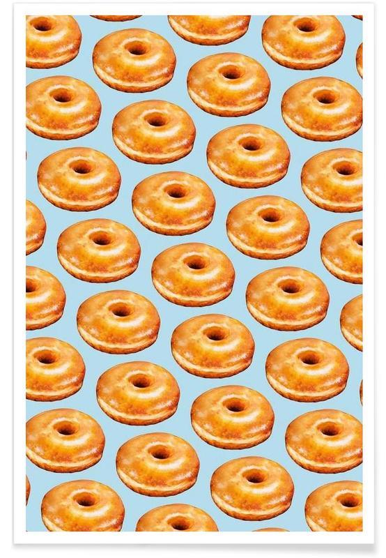 Glazed Doughnut Pattern Poster