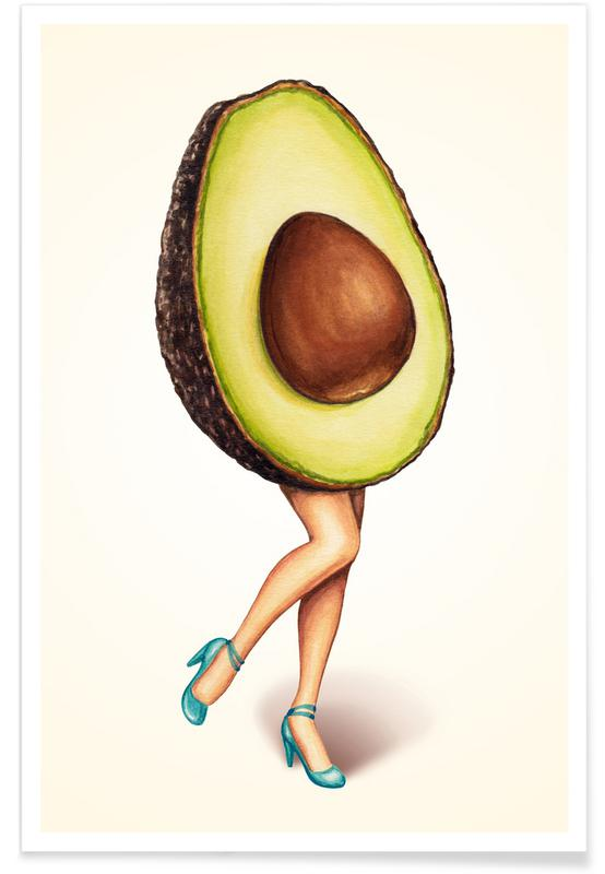 Fruit Stand - Avocado -Poster
