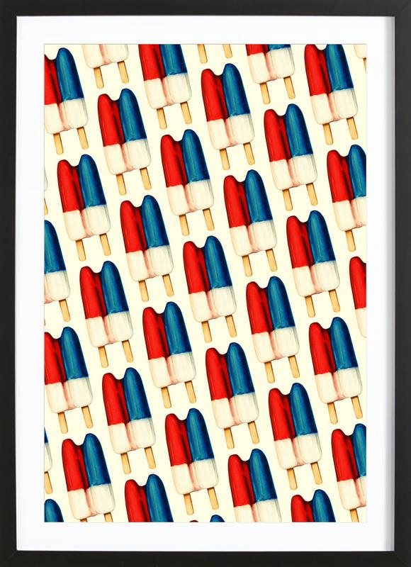Double Popsicle Pattern -Bild mit Holzrahmen