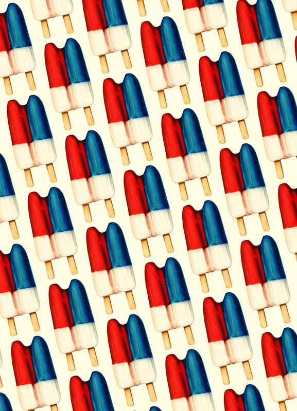 Double Popsicle Pattern -Leinwandbild