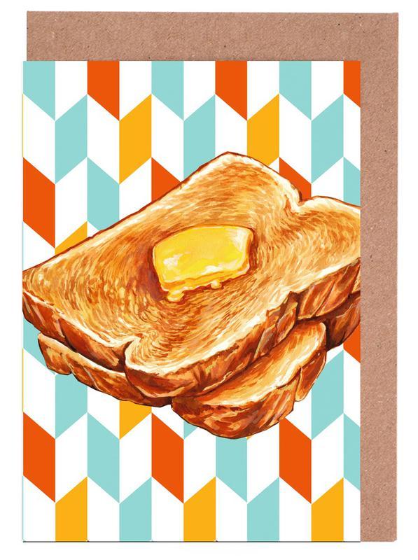 Buttered Toast -Grußkarten-Set
