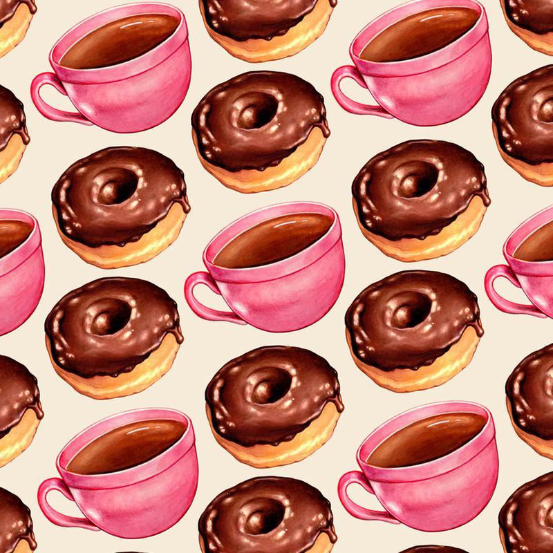 Coffee Patterns Coffee Chocolate Canvas Print