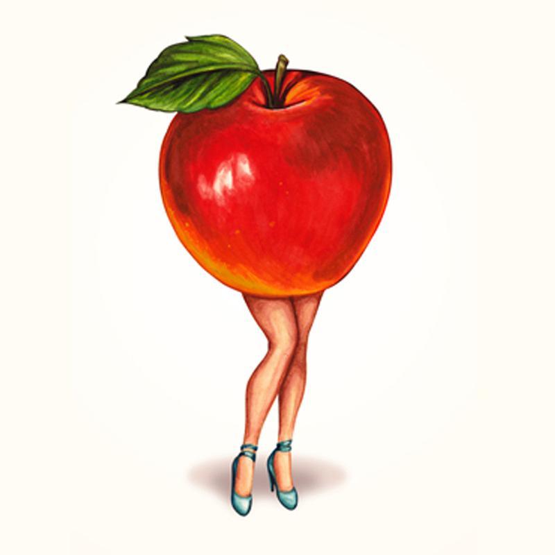 Fruit Girls Apple canvas doek