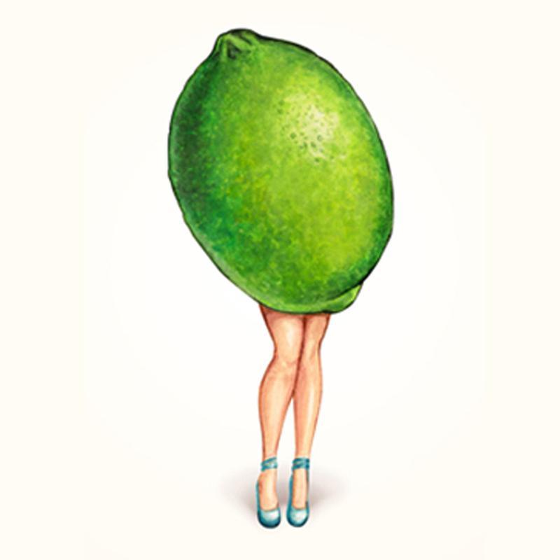 Fruit Girls Lime canvas doek