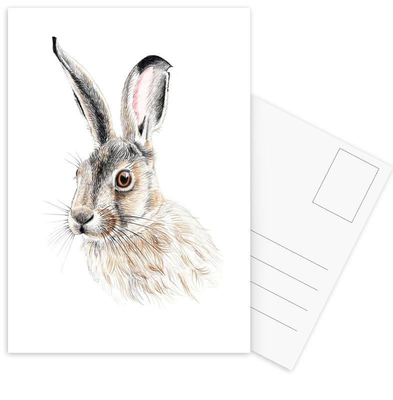 Rabbit Postcard Set