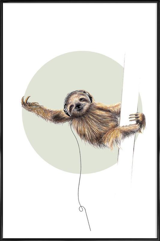 Sloth Framed Poster