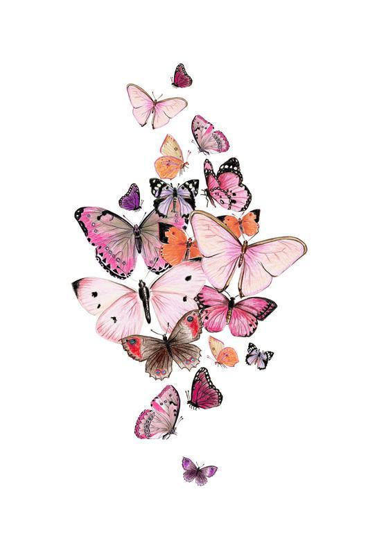 Schmetterlinge Rosarot Acrylic Print