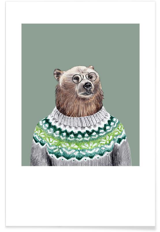 Bär im Pullover affiche