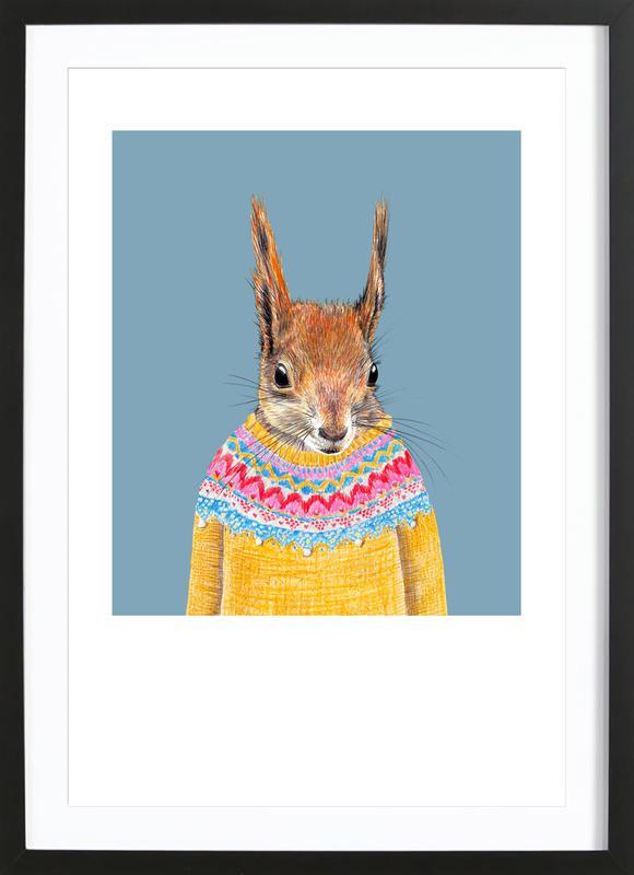 Hörnchen im Pullover ingelijste print
