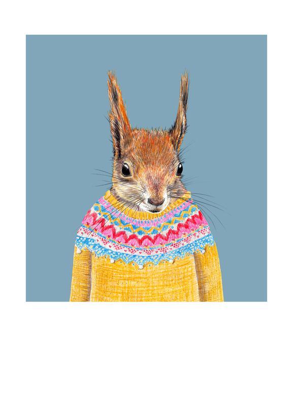 Hörnchen im Pullover Canvas Print