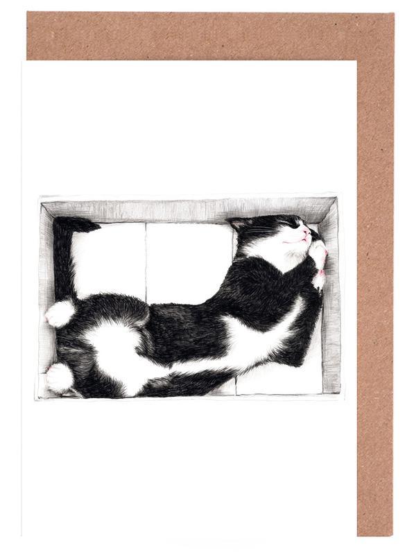 Katze im Karton Grußkartenset
