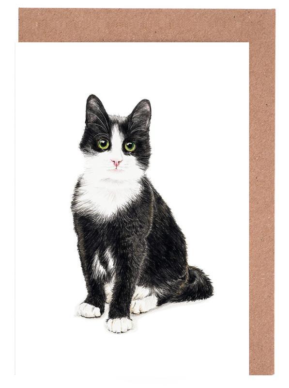 Katze Murmelauge Grußkartenset