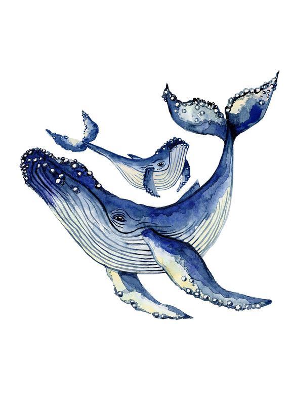 Buckelwale -Leinwandbild