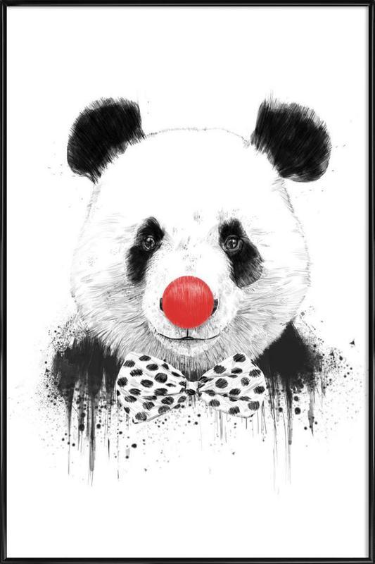 Clown Panda Gerahmtes Poster | Dekoration > Bilder und Rahmen > Poster | Mehrfarbig