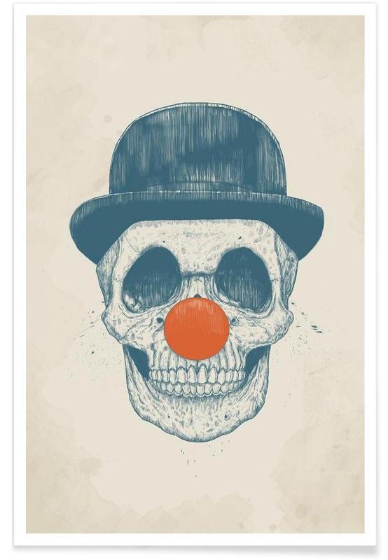 Clown mort - Dessin affiche