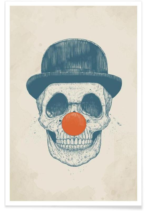 Dead Clown Drawing Poster