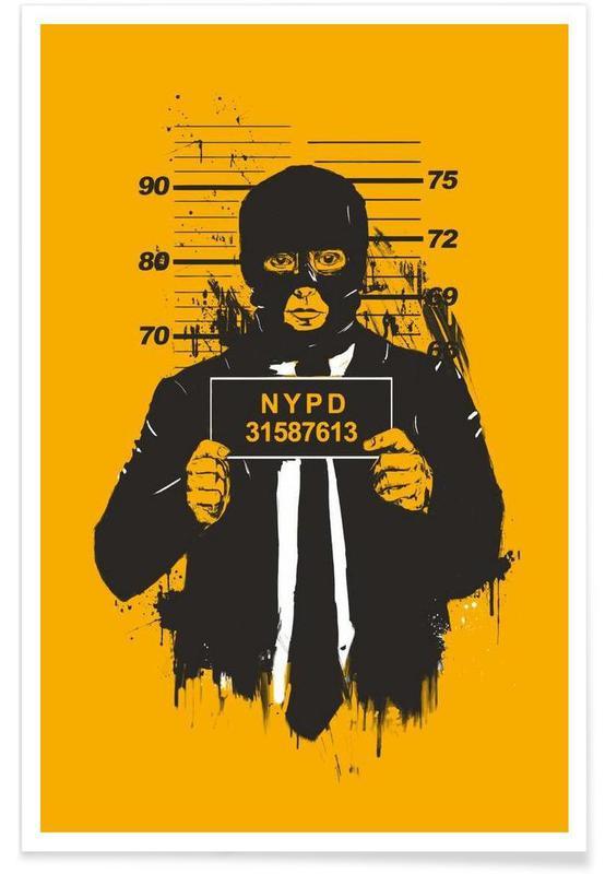 Mugshot Drawing Poster