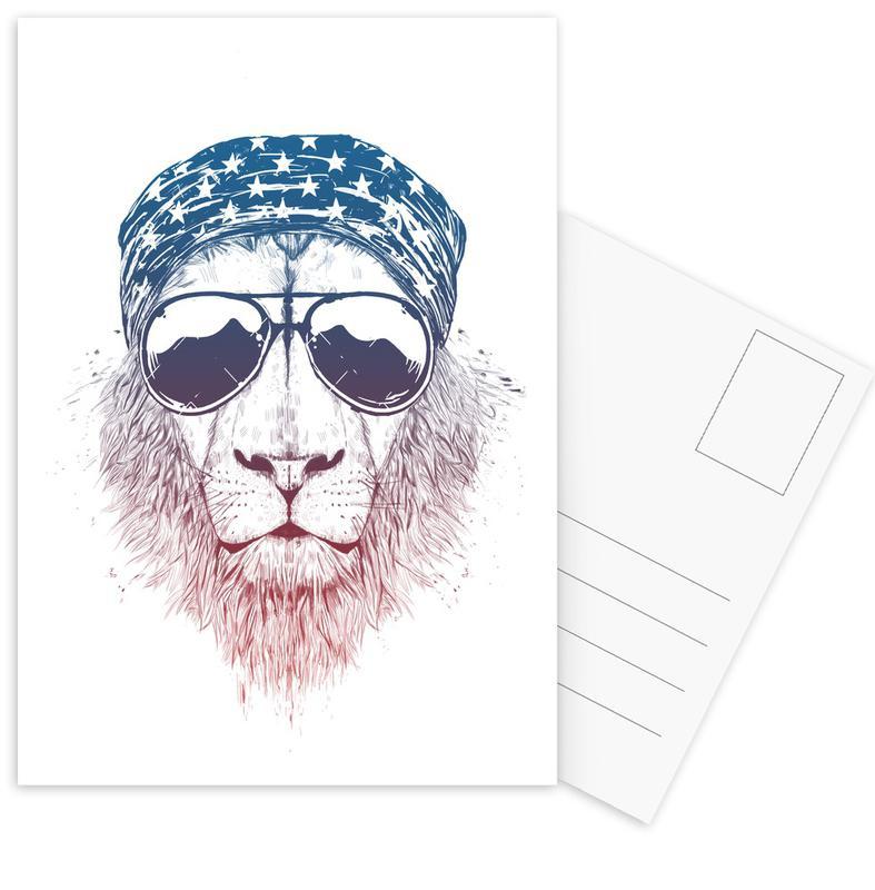 Wild Lion Postkartenset | Dekoration > Accessoires | Mehrfarbig