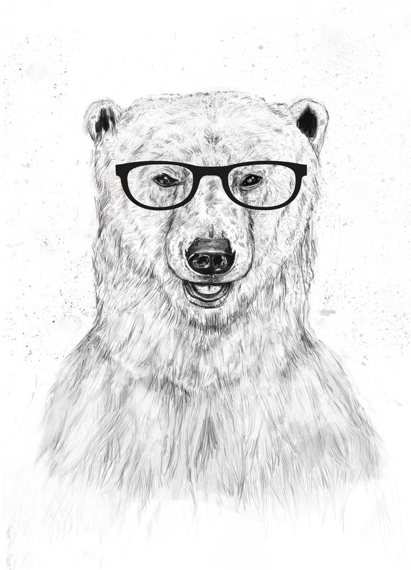 Geek Bear Canvas Print