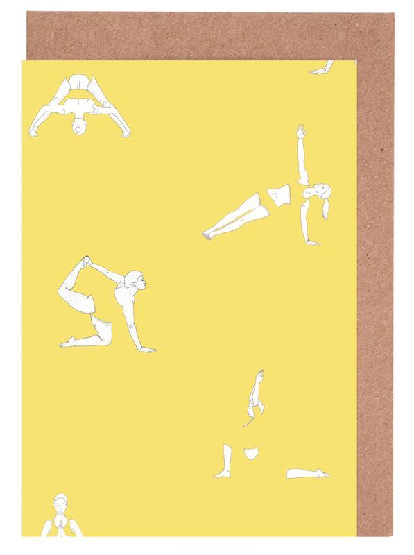 Yoga Practice 14 Greeting Card Set