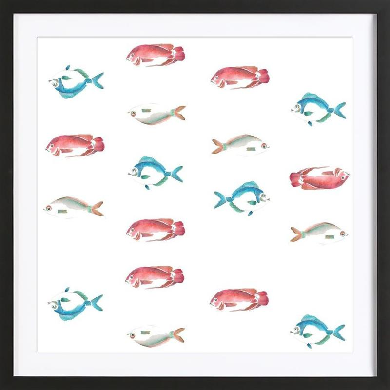 Pattern: La Mojarra Framed Print