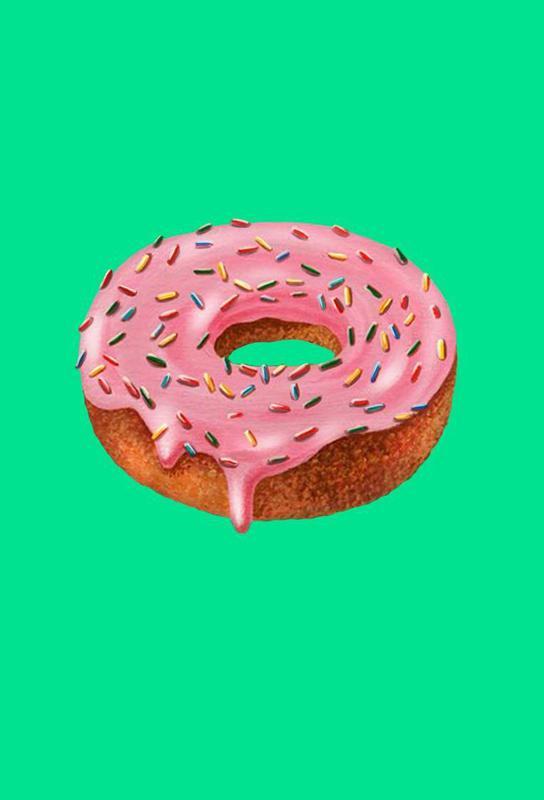 Donut Aluminium Print